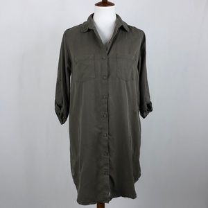 Everly Olive Button Front Mini Dress